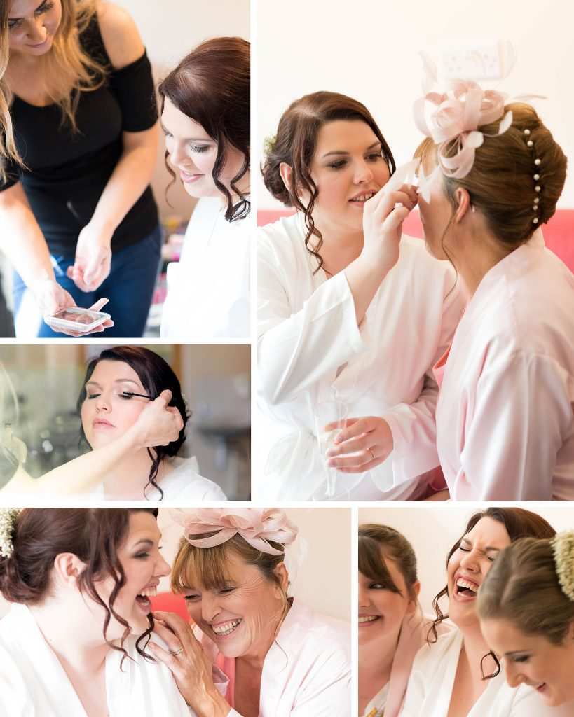 Wedding Bride Bridal Prep Photography Shropshire